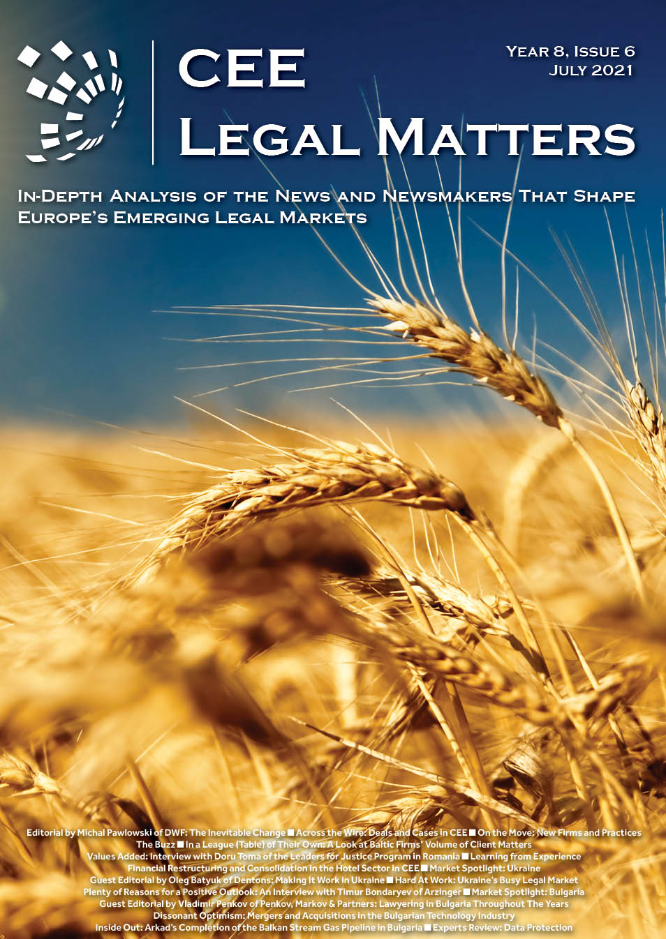 CEE Legal Matters: Issue 8.6